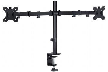 "ProperAV Dual Swing Arm Monitor Desk Mount with desk clamp for 19""-32"" Monitor"